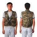 2016 New Mens Jacket Sleeveless veste  Spring And Summer Fishing And Photography Mesh Men's Vest Waistcoat