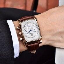 Relogio Masculino Mens Watches Top Luxury Brand BENYAR Chronograph Leather Quartz Watch Men Military Sport Luminous Wristwatch