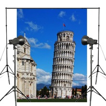 150x220cm European Building Photography Background Italy Pisa Leaning Tower Backdrop theme Photo Studio