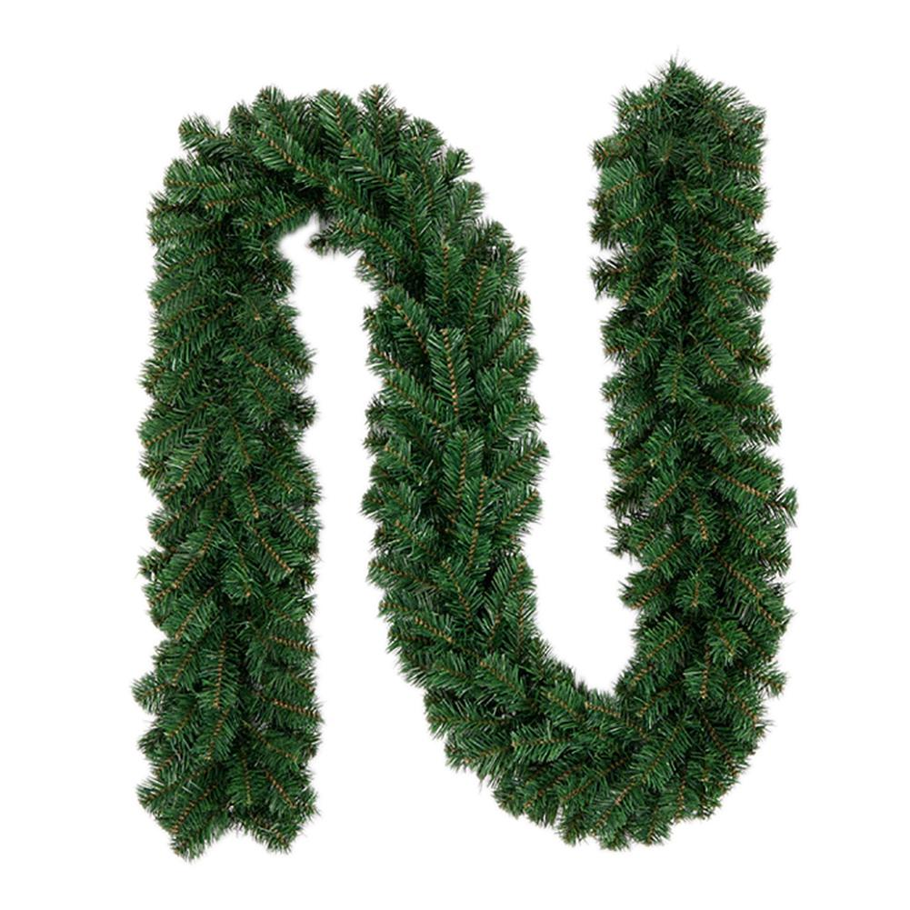 2 7m New Green Christmas Garland Wreath Xmas Home Party Christmas Decoration Pine Tree Rattan Hanging