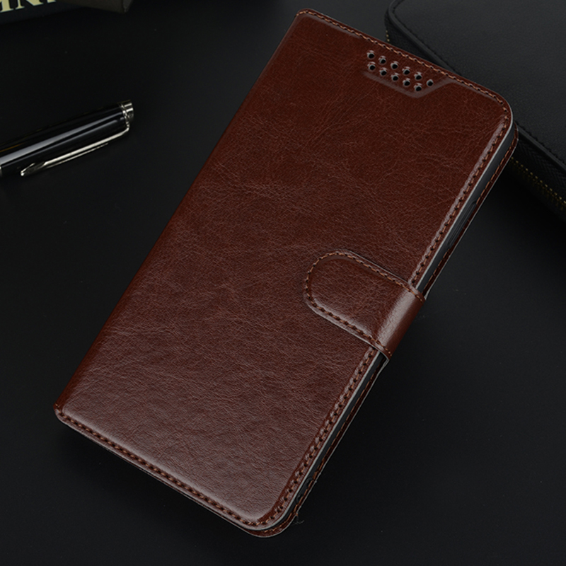 Leather Case For Alcatel One Touch 5010D Pixi 4 Case Flip Cover Soft Silicone Wallet Bags 5045D 5045X 9001D 9001A cover image