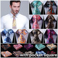 """Dot 3.4 """"100% Seda de la Boda de Tejidos en Jacquard, Hombres Corbata del lazo Pocket Square Pañuelo Set Suit EFD"""