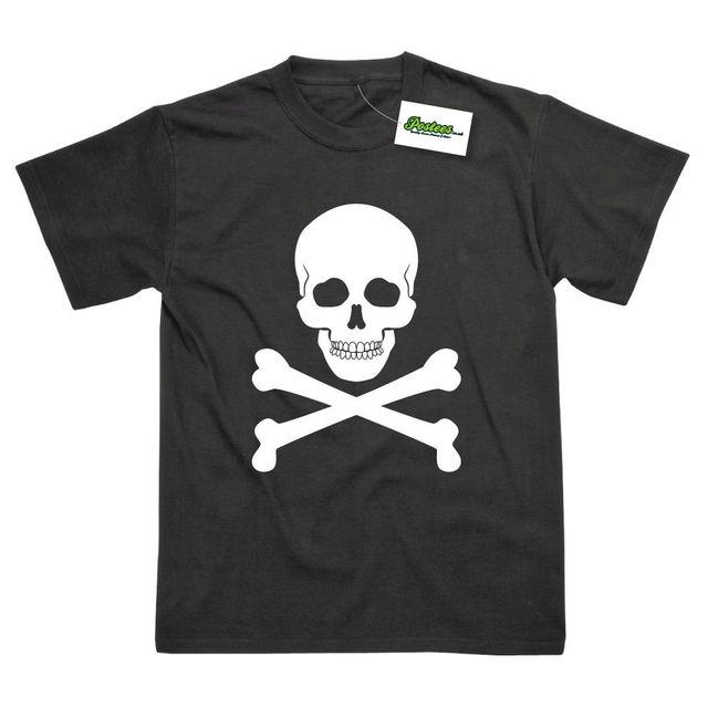 bcaaed56aa81 Skul & Crossbones Pirate Inspired Printed T-Shirt Cool Casual pride t shirt  men Unisex New Fashion tshirt Loose Size top ajax
