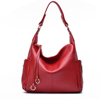 7746-Dcommuter leather handbags Shoulder bags middle-aged women's bags mother Genuine leather Messenger bag