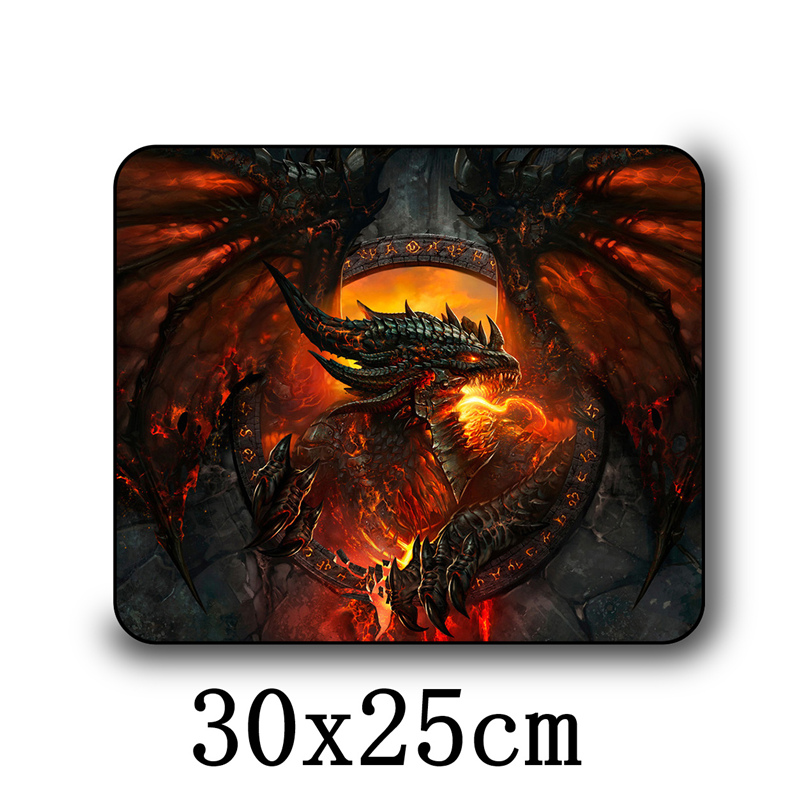 Fffas 30x25cm Gamer Gaming Mouse Pad Mat Soft Mousepad Internet Bar Wholesale Drop Shipping Standard Mousemat Game Player Gift Mouse Pads