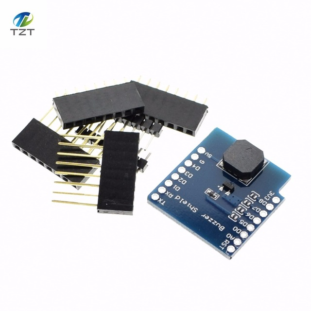 US $0 85 |Buzzer Shield V1 0 0 esp8266 D1 mini For Arduino Buzzer module  smart electronics-in Integrated Circuits from Electronic Components &