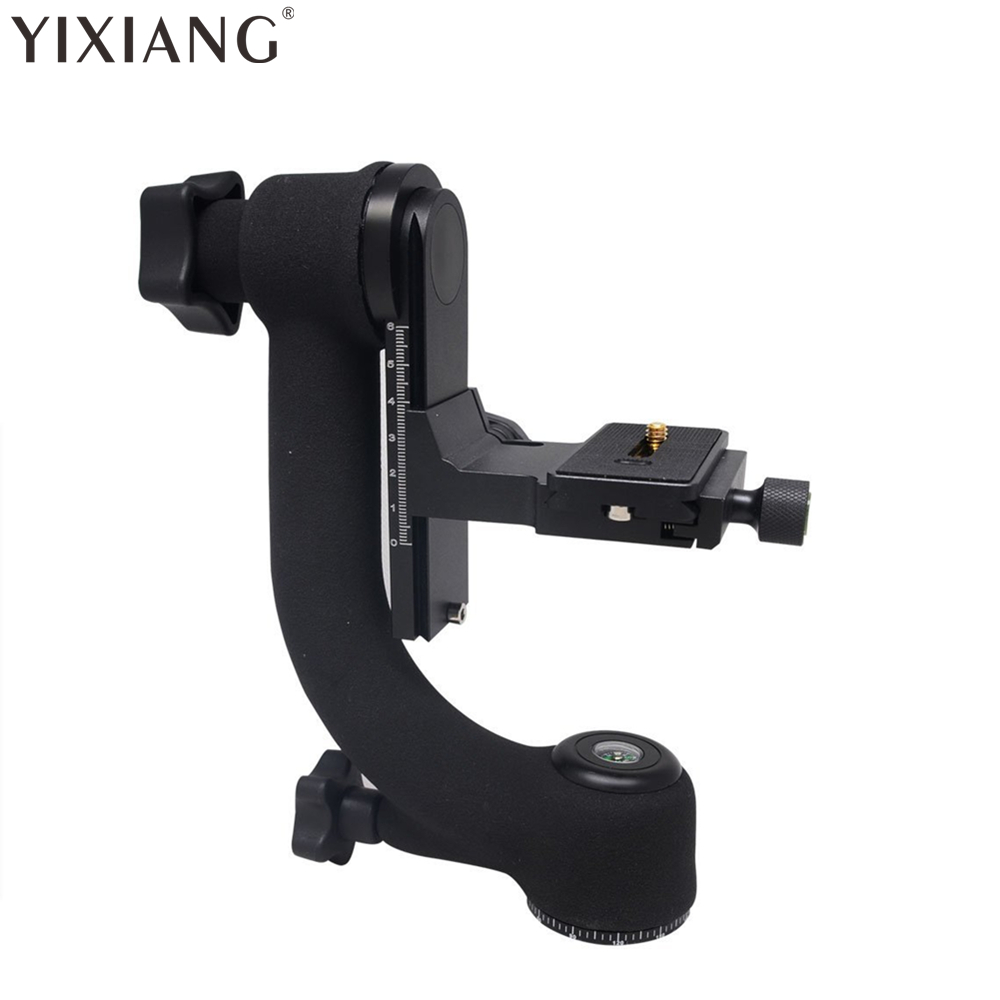 YIXIANG Professional Heavy Duty Metal Gimbal Tripod Head with Arca-Swiss Standard Quick Release Plate for Digital SLR Cameras 50pcs lot wire hanger fastener hanging photo picture frame quick easy clutch release nickel plate movable head ceiling