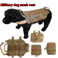 NEW Army Tactical Dog Vests 5.111 Military Mesh Dog Clothes Load Bearing Harness SWAT Dog Training rescue Molle Hunting Vest