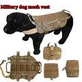 NOVO Exército Tático Coletes À Prova de Cão 5.111 Malha Roupa Do Cão Arnês de Carga Militar SWAT Molle Caça de resgate Do Treinamento Do Cão Colete