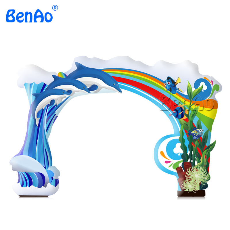 New Custom Popular Inflatable Rainbow Arch,Entrance Arch Gate For Advertisement,inflatable racing run arch for event commercial sea inflatable blue water slide with pool and arch for kids