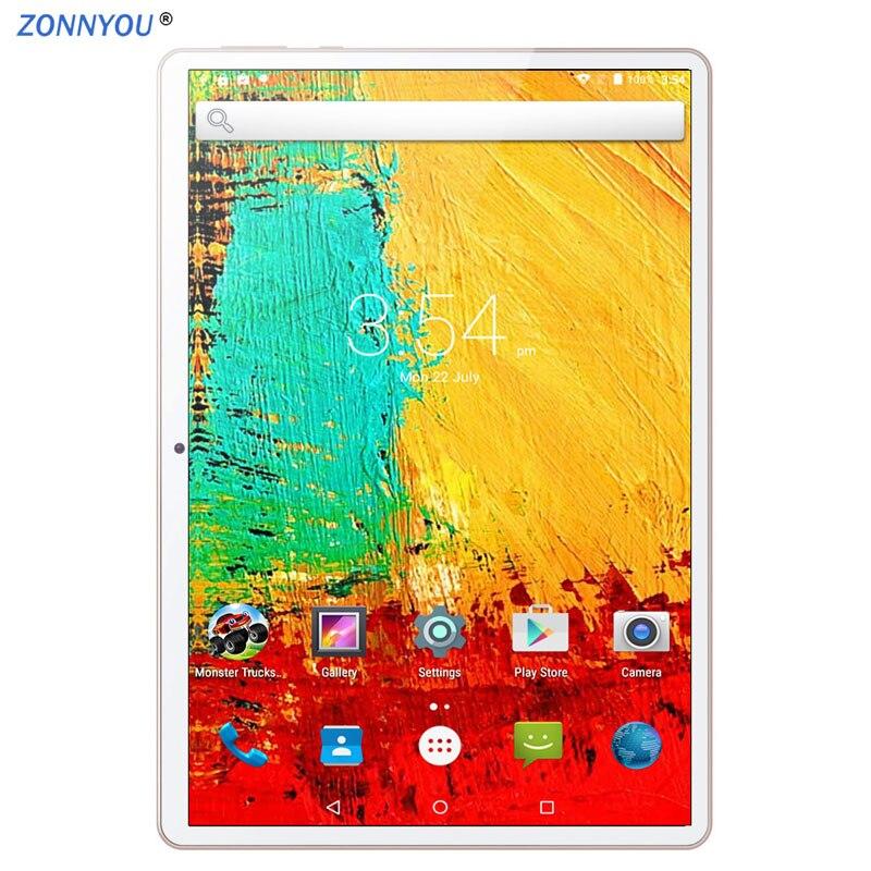 10/1 en tablette PC Android 8.1 3G appel téléphonique tablette PC octa-core 4GB Ram 64GB Rom intégré 3G Bluetooth Wi-Fi GPS tablette PC 10.6
