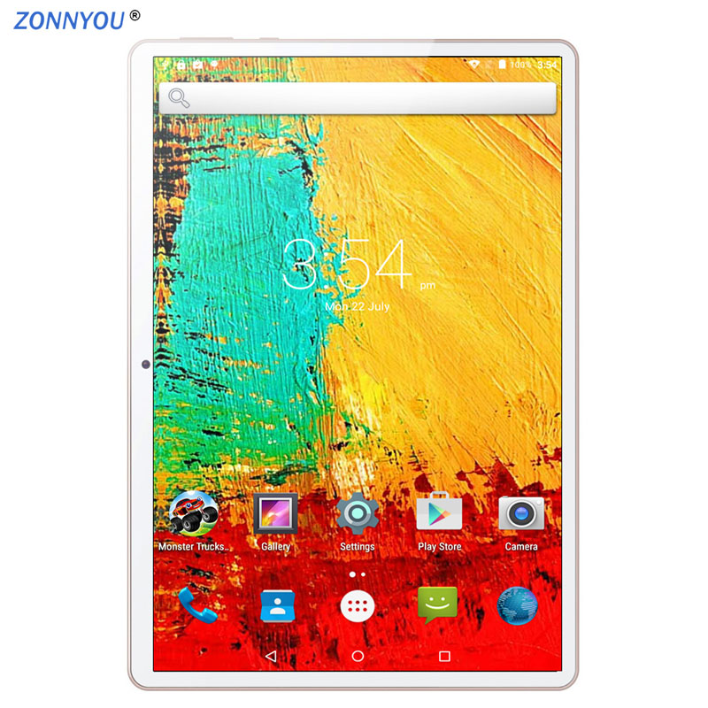 10/1 In Tablet PC Android 8.0 3G Phone Call Tablet PC Octa-Core 4GB Ram 64GB Rom Built-in 3G Bluetooth Wi-Fi GPS Tablet PC 10.6
