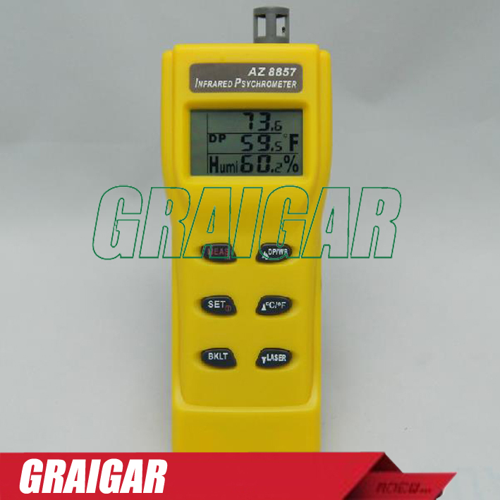 AZ8857 multifunction infrared thermometer air temperature and humidity