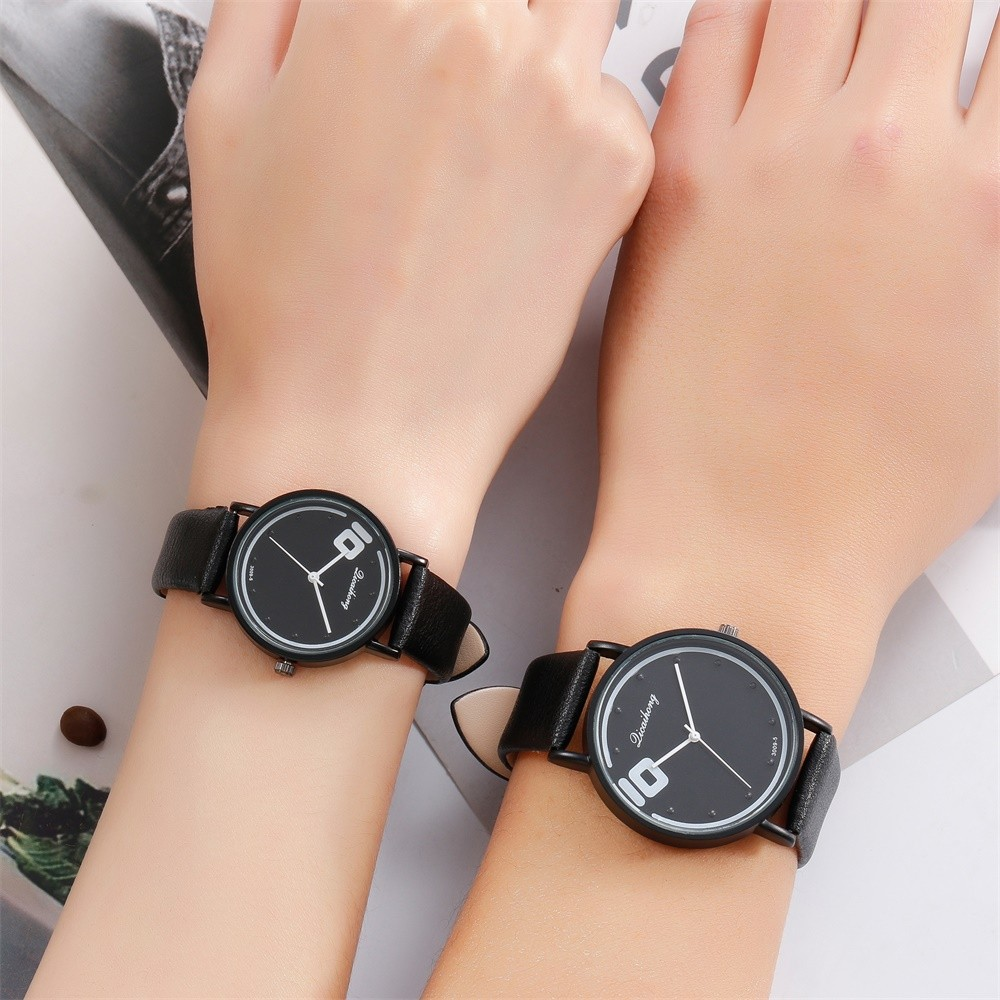 Bracelet Watches Quartz Analog Casual Fashion Woman High-Quality Round for -A Band Couples