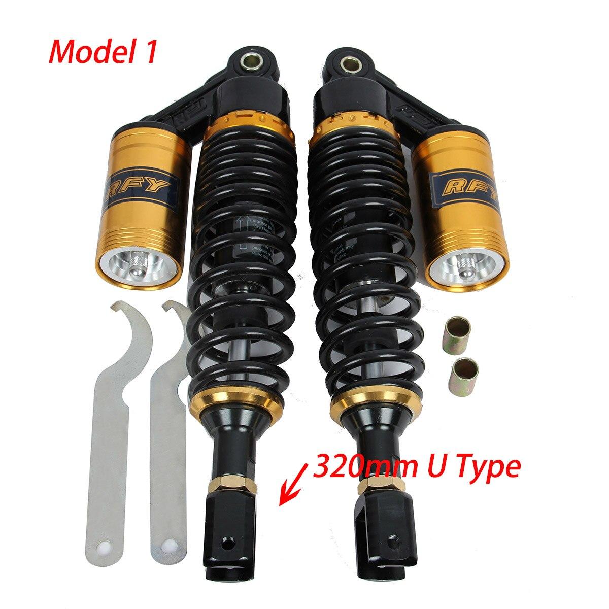 POSSBAY 320mm 340mm 360mm 380mm 400mm Motorcycle Rear Air Shock Absorbers Suspension for Honda Yamaha Suzuki Amortiguador Moto
