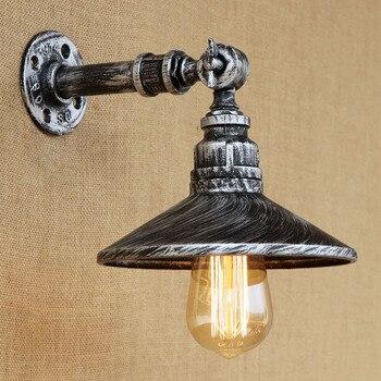 American Rustic Loft Style Vintage Industriale Wall Lamp Retro Water Pipe Lamps Edison Wall Sconce Single Head E27 Bule