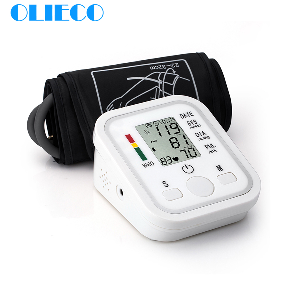 543.59руб. 55% СКИДКА|OLIECO автоматический цифровой электрический верхний монитор артериального давления на руку, медицинский тонометр сердечного ритма BP сфигмоманометр|Артериальное давление| |  - AliExpress