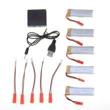 5pcs 3.7v 500mah Lipo Battery for Udi U818 U818a U817 Wltoys V959 V969 V979 V989 V999 V929 V949 V212 V222 RC Quadcopter Drone