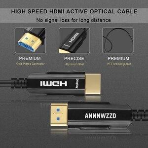 Image 5 - HDMI 2.0 ケーブル 4 18K 60Hz 光ファイバ HDMI ケーブル 2.0 2.0a 2.0b HDR hdtv 用 Xiaomi ボックスプロジェクター PS4 ケーブル HDMI 10 メートル 15 メートル 30 メートル 50 メートル