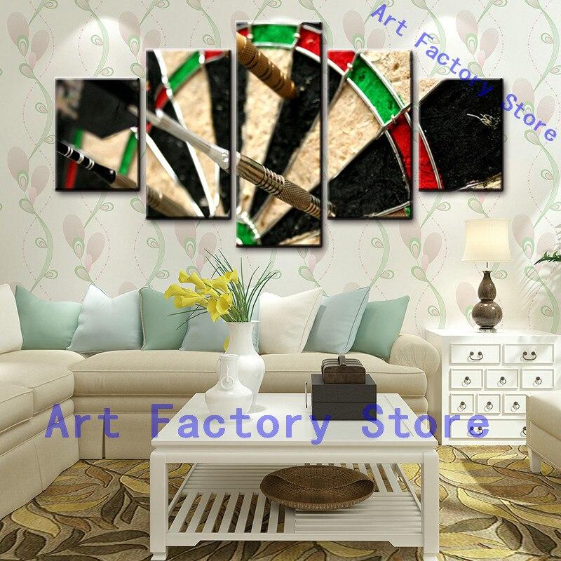 5 Дартс Панель колеса цель огонь Современная живопись дом украшающие стены HD печати Холсты для рисования настенная живопись для украшения