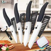 Cuchillo de cerámica 3 4 5 + 6 pulgadas Juego de cuchillos de pan dentados de cocina utilidad rebanar frutas vegetales Zirconia cuchillo de Chef de hoja blanca