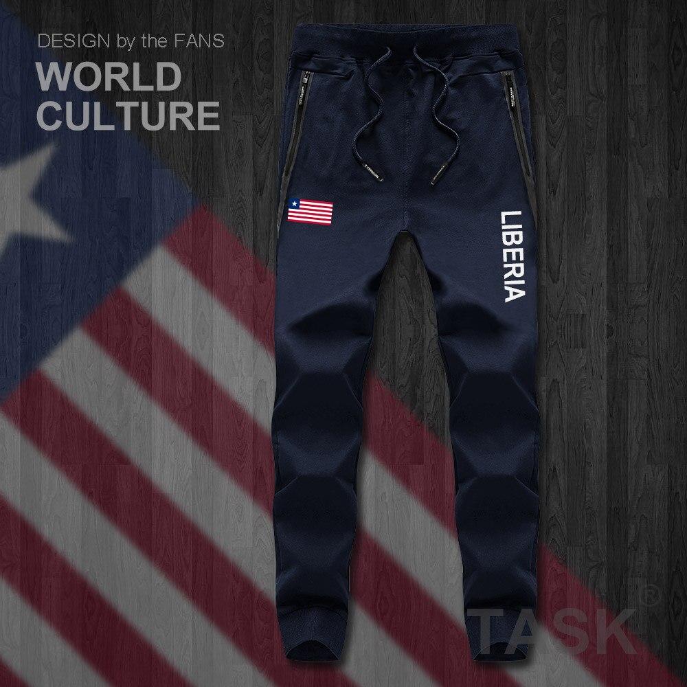Liberia Liberian LR LBR Mens Pants Joggers Jumpsuit Sweatpants Track Sweat Fitness Fleece Tactical Casual Nation Country Leggin