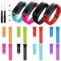 2017 pulseiras de relógio quente popluar staps 8 doces cor da moda pulseira pulseira de esportes da banda de silicone + ferramenta para garmin vivosmart hr