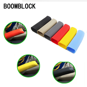 BOOMBLOCK Car Handbrake Non-slip Covers Rubber For Mercedes W204 W210 AMG Benz Bmw E36 E90 E60 Fiat 500 Volvo S80 Accessories image