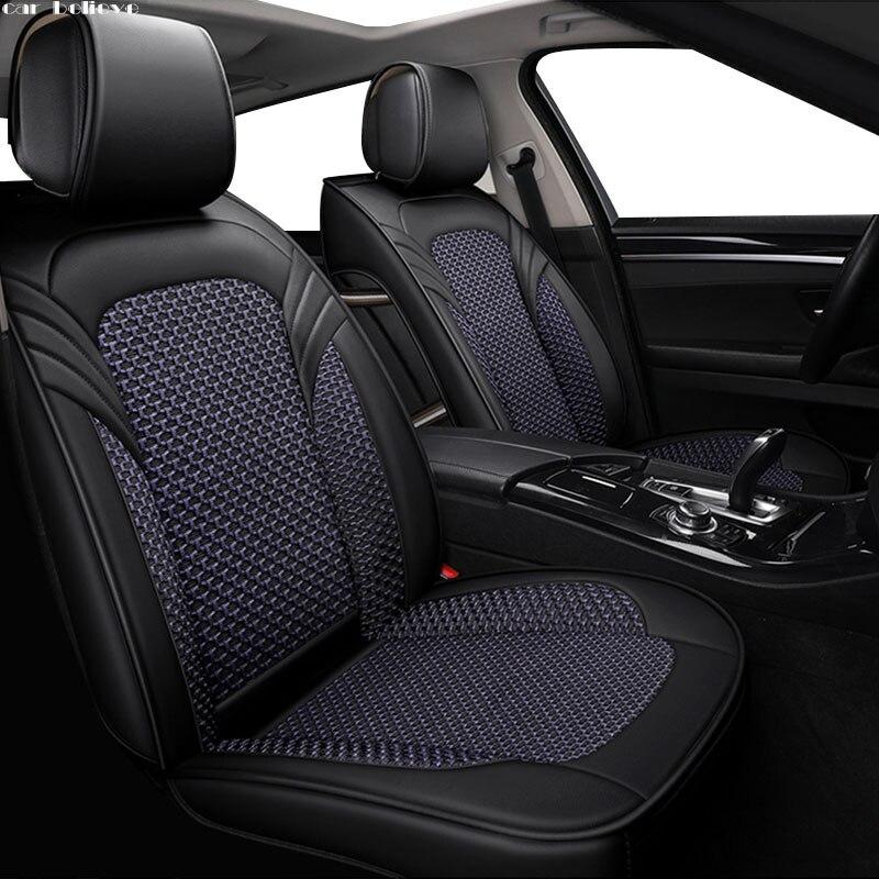 Croyez cuir de voiture housse de siège de voiture Pour mitsubishi pajero 4 2 sport outlander xl asx accessoires lancer couvre pour véhicule siège
