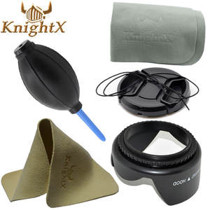 KnightX 49mm 52mm 55mm 58mm 62mm 67mm 72mm 77mm lens hood Blower For nikon