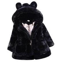 Cold Winter Baby Girls Clothes Faux Fur infant Coat Rabbit Ears Warm kids Jacket Xmas Snowsuit Outerwear enfant children