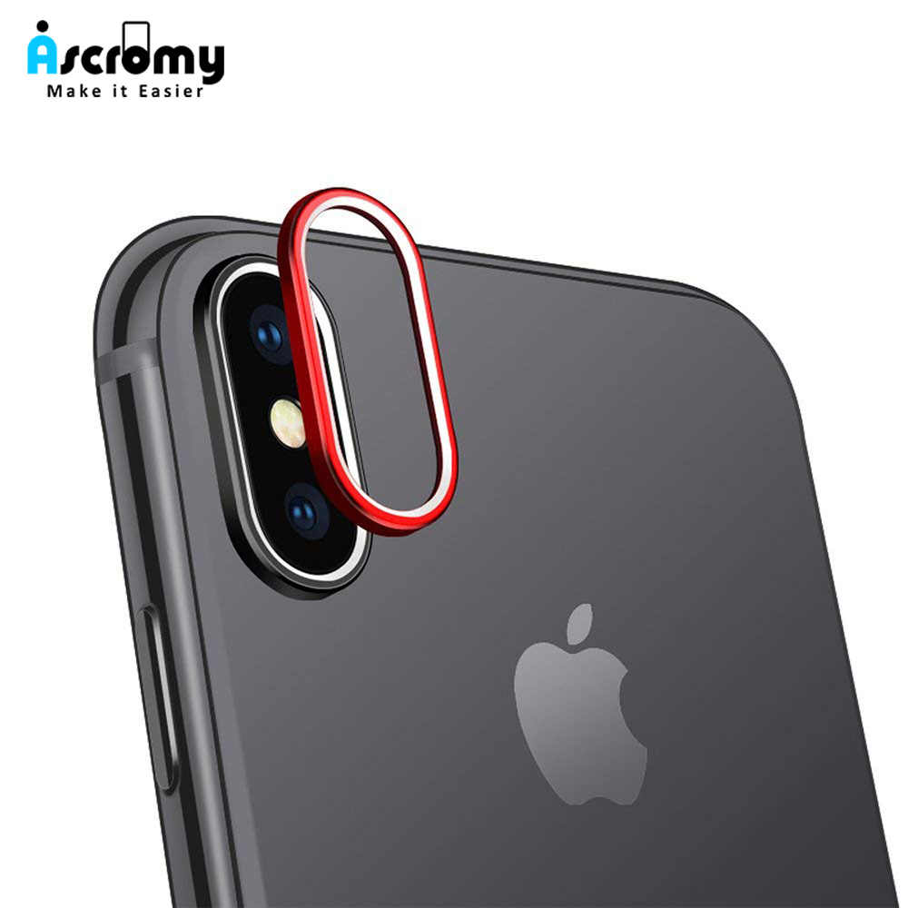 Ascromy задняя камера металлическая линза защитное кольцо для iPhone XS Max XR X 8 7 6 6S Plus Задняя Камера Протектор Защитная крышка аксессуары