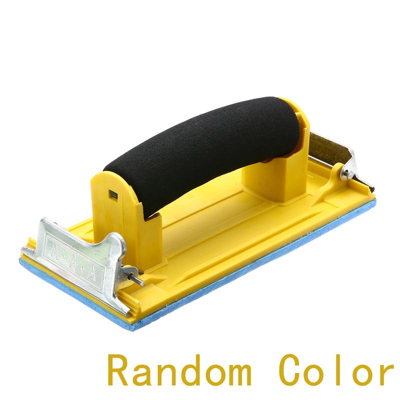 1Pc Handheld Matte Paper Frame Hand Grip Sand Paper Frame Sandpaper Holder For Woodworking Polishing Sanding Tools