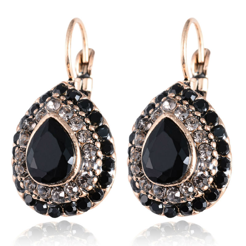 2017 New Women Vintage Ethnic Earrings Retro Style Colorful Bead Crystal Rhinestone Drop Earring Latest Jewellery Designs In From Jewelry