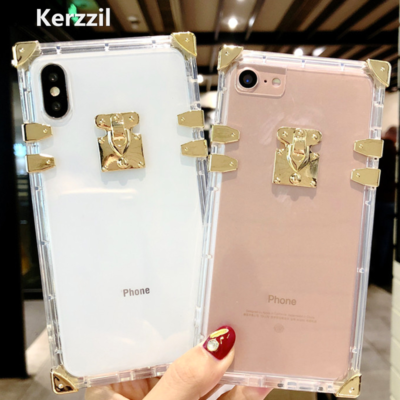 Kerzzil Luxury Clear Crystal Soft Silicone Cases For
