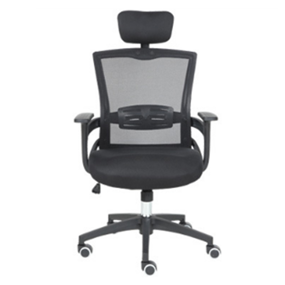 Fashion To Work In An Office Black Screen Cloth Staff Member Chair Household Fashion Swivel Chair Student Lift Chair