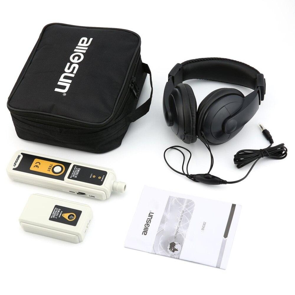 Allsun EM282 40 khz Ultrasonic Leak Detector Transmissor Monitor LED Indicador de Detecção de Vazamento de Gás Líquido de Confiança
