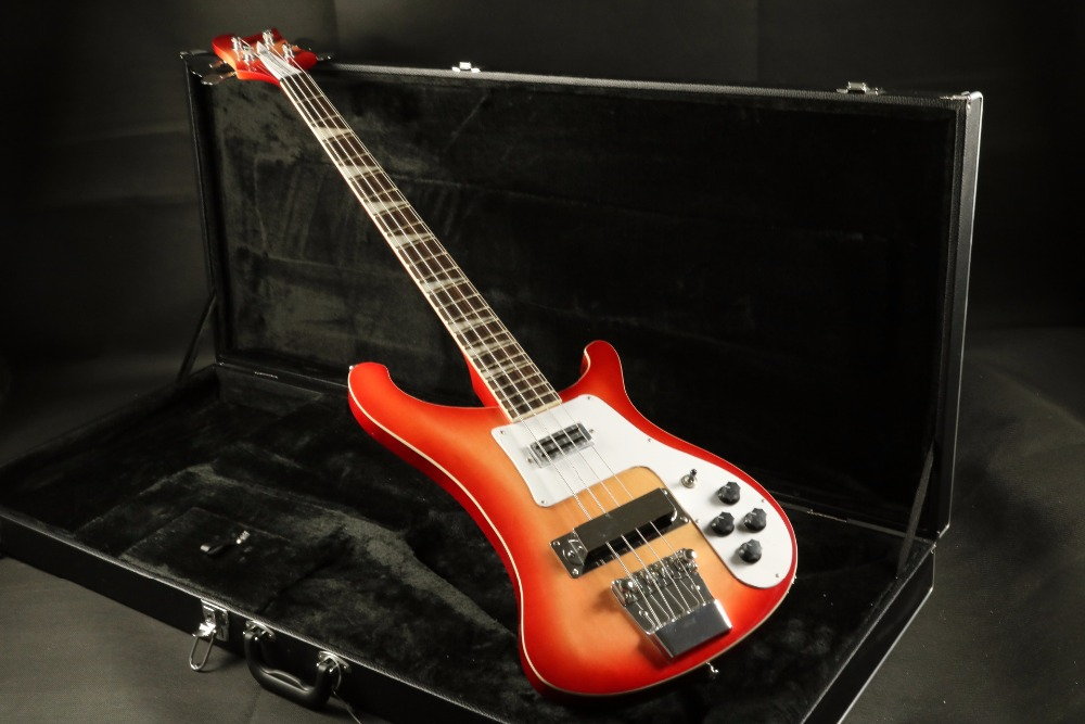 in stock quality cherryburst 4 string electric bass guitar guranteed quality in guitar from. Black Bedroom Furniture Sets. Home Design Ideas