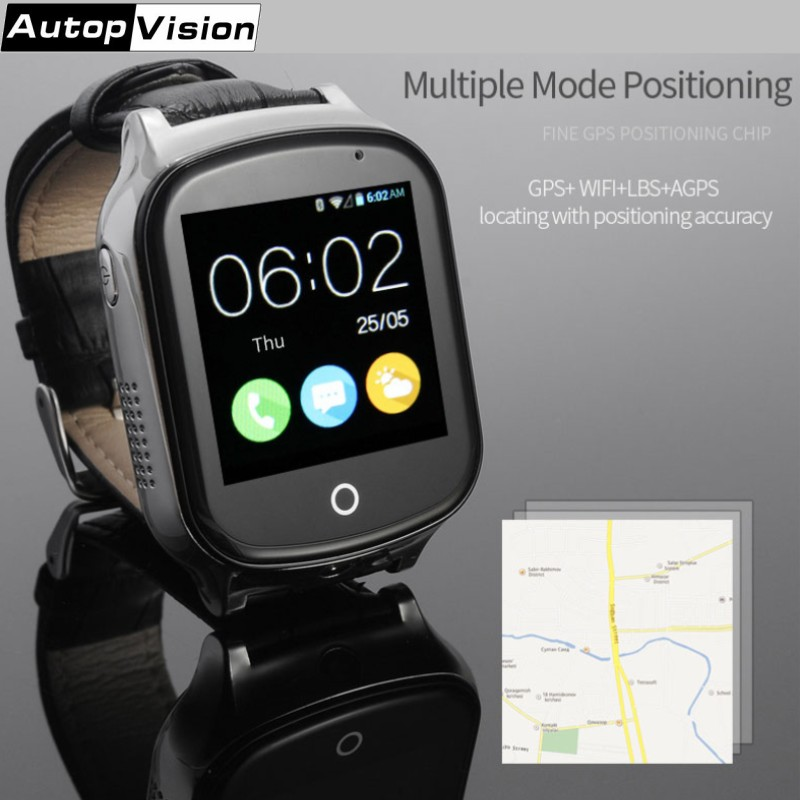 A19 3G GPS Smart Watch with Touch Screen and Camera Compatible with Android and iOS phone Anti-Lost GPS Tracker for Kids Elderly new kid gps smart watch wristwatch sos call location device tracker for kids safe anti lost monitor q60 child watchphone gift