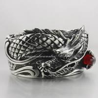 Huge Heavy 316L Stainless Steel Mens Boys Biker Rock Punk Dragon bracelet 5J004A