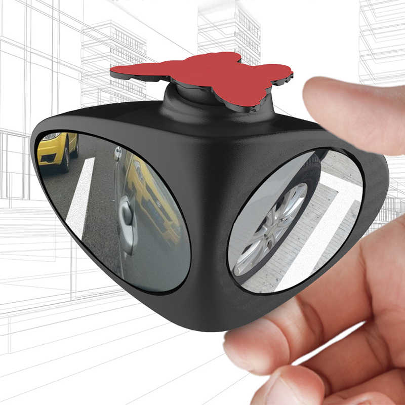 Car Blind Spot Mirror Wide Angle Rearview Mirror Convex 360 Dregree Adjustable Rotation Mirror for Parking Security Car Mirror