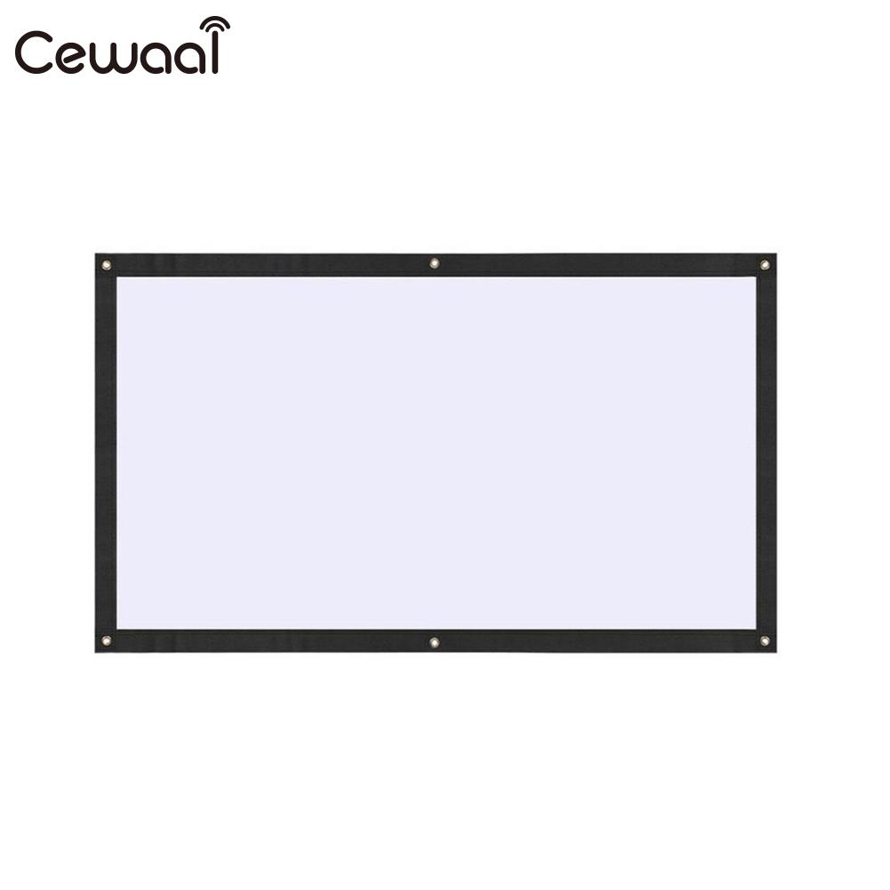 Portable Projector Screen Movie Screen Projection Curtain 16:9 60 Inch Polyester Movie Outdoor School