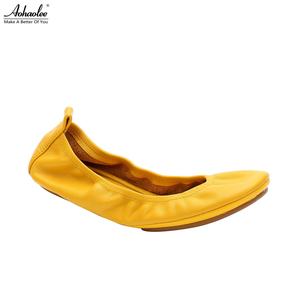 Aohaolee 3 Pairs Women Shoes Flats Comfortable Genuine Leather Bridal Shoes Ballerina Ballet Flats Foldable Flats Pregnant Shoes aohaolee 5 pairs lot women shoes ballet flats portable fold up shoe ballerina flat shoe roll up prom bridal wedding party shoes