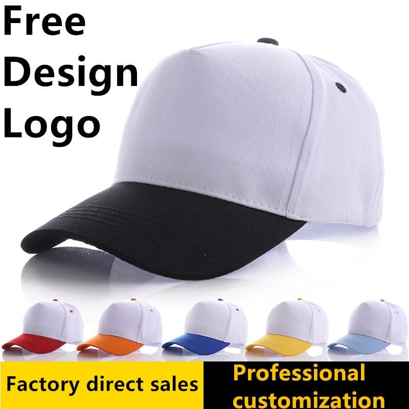 f140c071e393a5 Personality DIY Print Logo Cotton Baseball Caps Custom Design Text Photo  Gorra Hats Snapback Caps Trucker