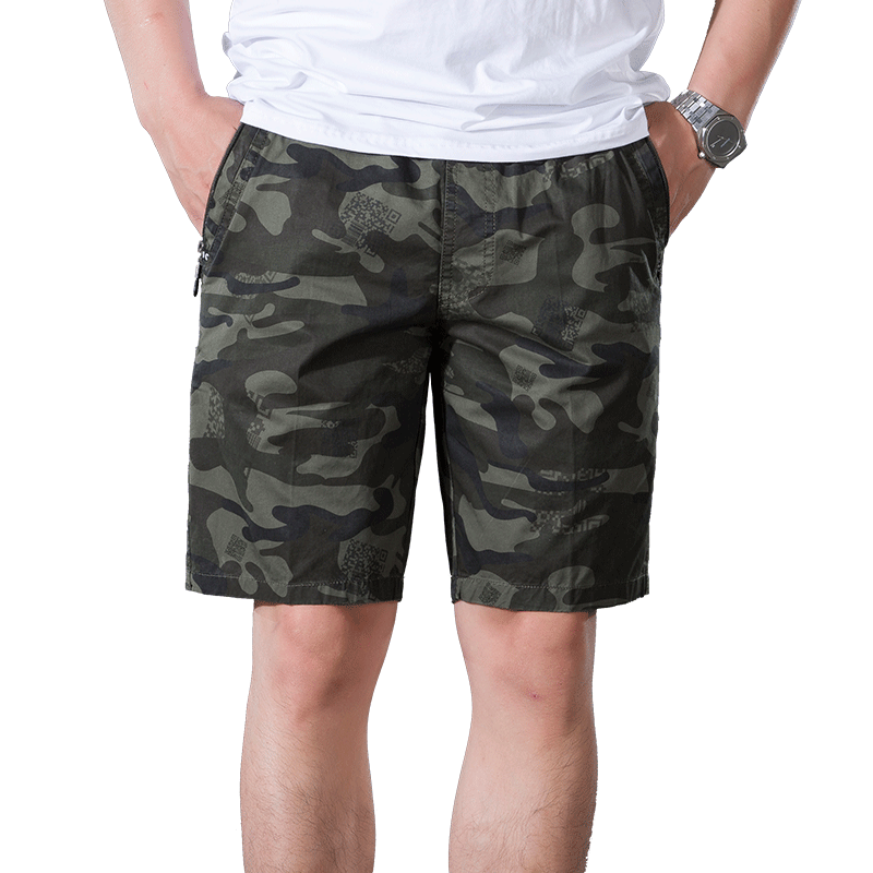 2018 Camouflage Cargo Shorts Men Mens Casual Camo Shorts Male Loose Work Shorts Man Military Short Pants Plus Size XL-5XL