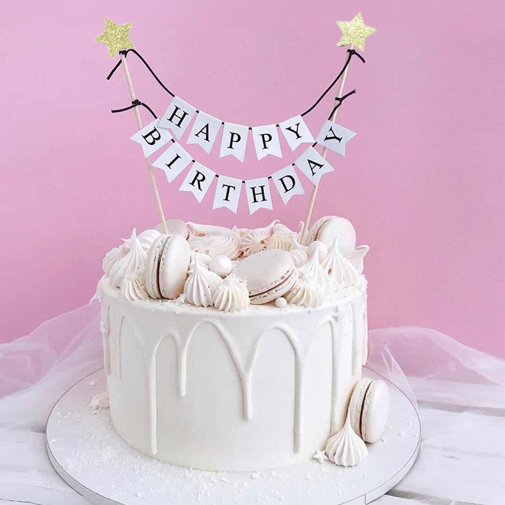Party Decorations, Happy Birthday Cake Banner     Cake Toppers