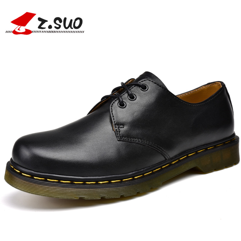 Z. Suo men's shoes, spring and autumn leather casual shoes, stylish solid color with shoes, non-slip wear-resistant TPR  ZS18018 2016 spring child sport shoes leather boys shoes girls wear resistant casual shoes