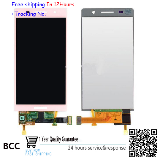 100% Original White/Black/Pink For Huawei Ascend P6 LCD Display+Touch Screen+Digitizer Glass Assembly P6S P6-U06 C00 T00 S-U06 replacement original touch screen lcd display assembly framefor huawei ascend p7 freeshipping