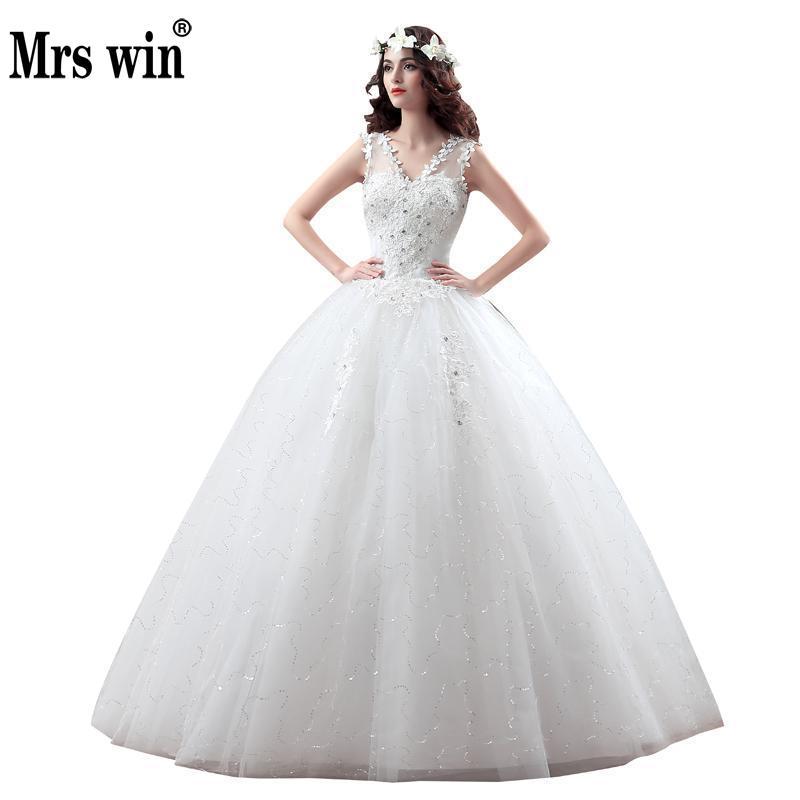 Neu Kommen Koreanische Stil Größe Hochzeitskleid Spitze Stickerei ...