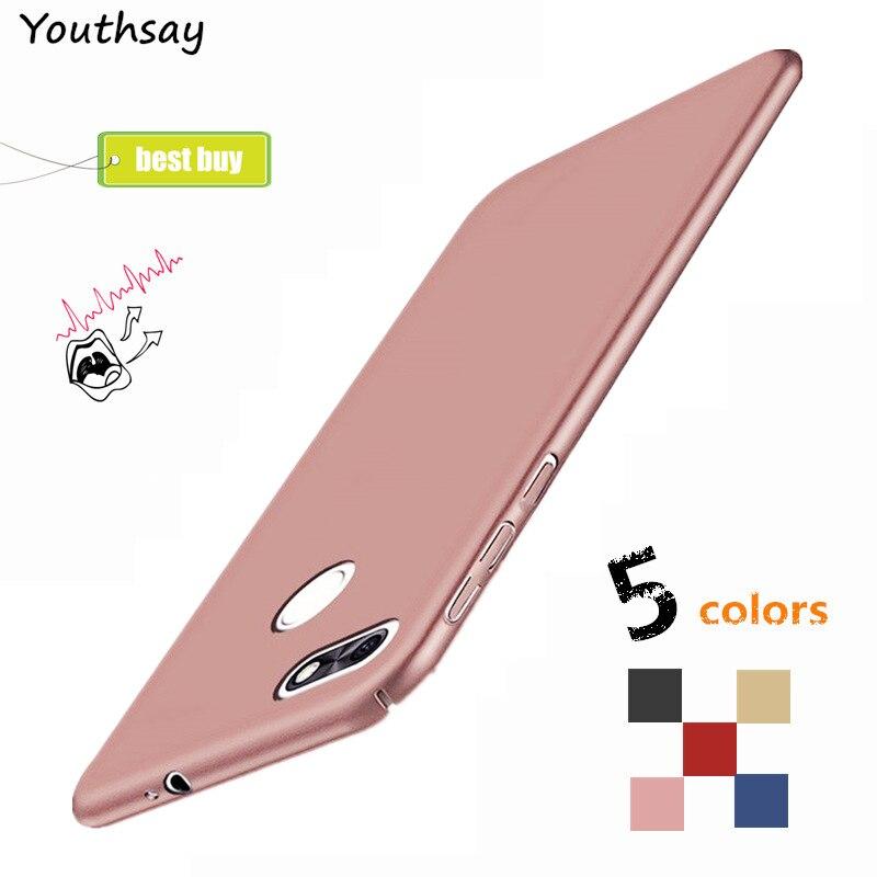 Youthsay крышка Huawei <font><b>P9</b></font> <font><b>Lite</b></font> мини случае Huawei Y6 Pro <font><b>2017</b></font> чехол Роскошные ультра-тонкий скольжения Жесткий PC Обложка СПС Huawei наслаждаться 7 случай 5&#8243;
